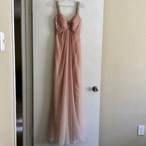 Long Ombré Prom Dress w/Sweetheart Neckline